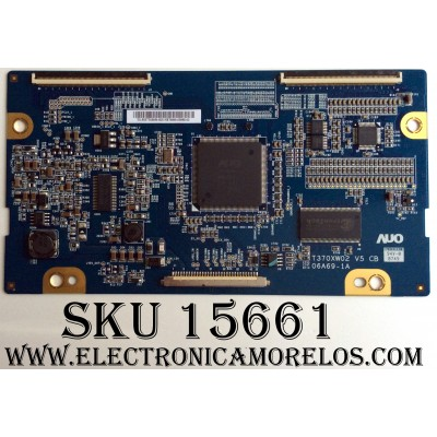 T-CON AUO / 55.37T03.050 / 06A69-1A / 5537T03050 / MODELOS PLCD3717A / 37LC5DC-UA / Z37LC6D-UK.KUSTZJK / PANEL T370XW02 V.5 / SUSTITUTAS 55.37T03.064 / 55.37T03.021 / 55.37T03.C03 / 55.37T03.065 / 55.06A69.001 / 55.37T03.057 / 55.37T03.041 / 55.37T03.035
