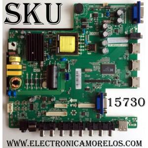 MAIN / FUENTE (COMBO) / SCEPTRE B16033217 / TP.MS3393.P712 / T201603091A / B13505 / MODELO E32 / PANEL LC320EXJ-SEE1
