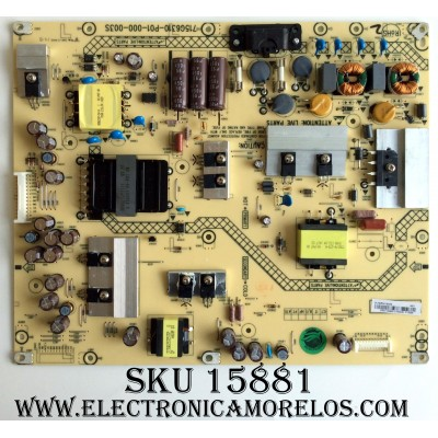 FUENTE DE PODER / SHARP PLTVDY411XAE6 / 715G6310-P01-000-003S / MODELO LC-50LE450M