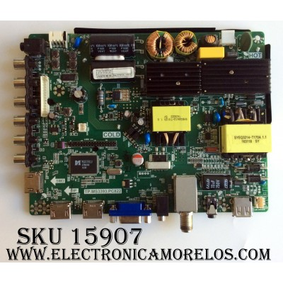 MAIN / FUENTE / (COMBO) / PROSCAN B16086333 / TP.MS3393.PC822 / T201608033A / MODELO ¨49¨ / PANEL HV490FHB-N8D
