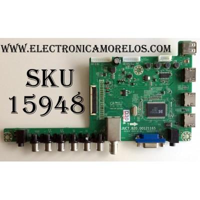 MAIN / HITACHI 999K6CA / KB6160 OSP606 / JUC7.820.00121165 / HLS43C 2014-12-16 / MODELO LE55A6R9A / PANEL C550F15-E6-H (G4)