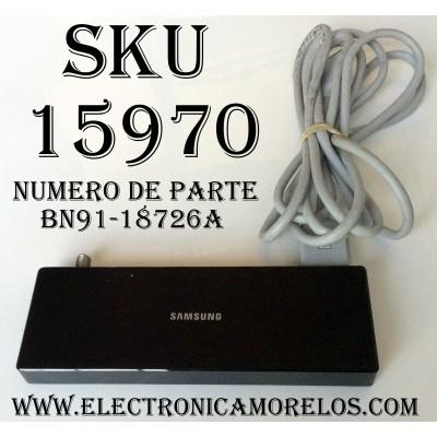 CAJA PARA TV SAMSUNG / ONE CONNECT BN91-18726A / SUSTITUTAS BN94-11965A / BN91-19252A / BN96-44183A / MODELOS UN55MU850DFX / UN55MU8000FX / UN55MU8500FX / UN55MU9000FX / UN65MU8000FX / UN65MU8500FX / UN75MU800DFX / UN75MU9000FX / UN82MU800DF