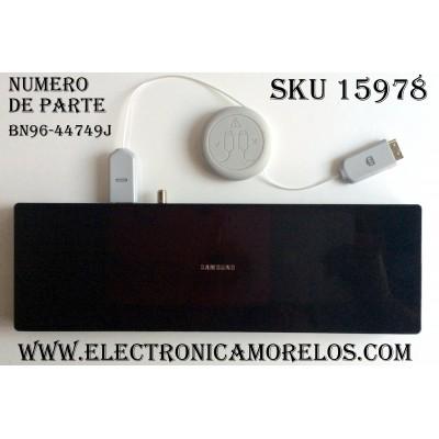 CAJA PARA TV SAMSUNG / ONE CONNETC BN96-44749J / ENTRADAS HDMI / ANTENA / USB / OPTICAL / SOC1000MA / S0C1000MA / BN68-07104D-00 / BN39-02301B J9NUW0016 / MODELO QN65Q7FAMFXZA