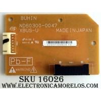 TARJETA XBUS-U / HITACHI ND60300-0047 / U26510D8401A / MODELO P50H401