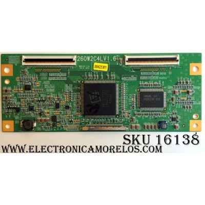 T-CON / JVC LJ94-00846C / 260W2C4LV1.6 / PANEL LTA260W2-L07 / MODELOS LT-26X466 / LT-26X506