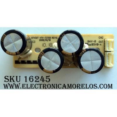 TARJETA PC / TOSHIBA 75011679 / STV32T / VTV-T3705 REV1C / 455C0651L01 REV:1A / STV32T VTV-T3705 REV1C / PANEL LC420WXN (SA)(B1) / MODELOS 26AV50U / 26AV500U / 32AV50U / 32AV500U / 37AV50U / 37AV500U / 42AV500U