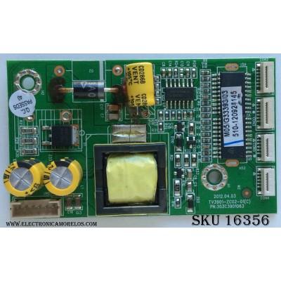LED DRIVER / PIONEER / 510-120924145 / TV3901-ZC02-01 (C )/ 303C3901063 / MODELO PLE-3902FHD / PANEL T390HVN01.0