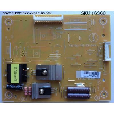 LED DRIVER / VIEWSONIC GV331UQA2 / 715G7262-P03-000-001H / MODELO CDE4302 / PANEL TPT430H3-HVN01.U REV:S272B