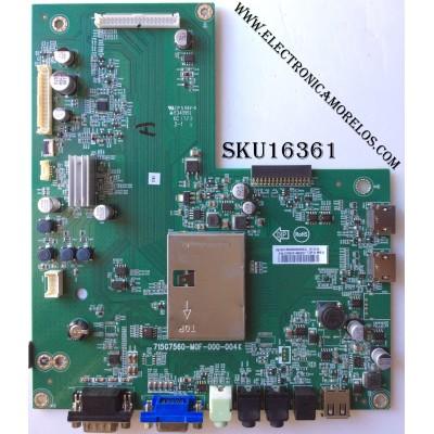MAIN / VIEWSONIC JQFCB0NN030 / JQFCB0NN030004Q / 715G7560-M0F-000-004K / MODELO CDE4302 / PANEL TPT430H3-HVN01.U REV:S272B
