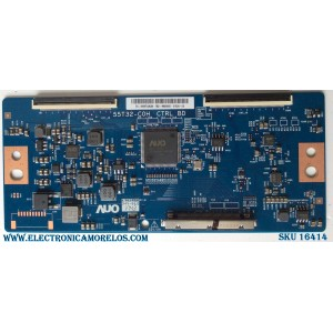 T-CON / INSIGNIA 55.55T32.C28 / 55T32-C0H / 5555T32C28 / PANEL TPT550U1-QVN05.U REV:S57B0A / MODELO NS-55DR620NA18