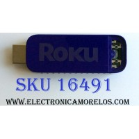 HDMI ROKU PARA TV / HITACHI 1EM59H / 1EM59H003824 / D0:4D:2C:FC:93:19 / PANEL C550F15-E6-H(G4) / MODELO LE55A6R9A