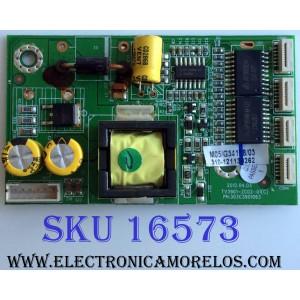 LED DRIVER / PIONNER 510-121130262 / KB-6160 / 303C3901063 / TV3901-ZC02-01(C) / PANEL T390HVN01.0 / MODELO PLE-3902FHD