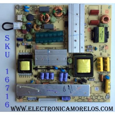 FUENTE DE PODER / PIONEER A41966 / TV4205-ZC02-01 / KB-5150 / MODELO PLE-3903FHD