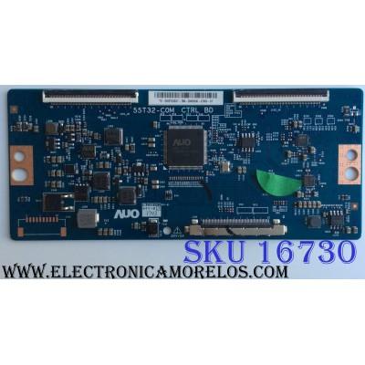 T-CON / HISENSE 5555T32C27 / 55.55T32.C27 / 55T32-COM / PANEL´S HD550K3U52\S6\GM\ROH  217820 / HD550K3U52\S6\GM\CKD\ROH / MODELOS 55H6D / 55DU6070