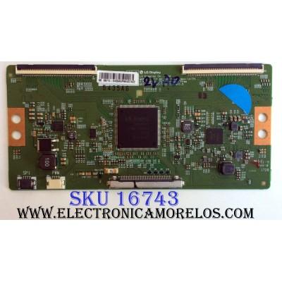 T-CON / HISENSE 5431A / 6871L-5431A / 6870C-0743A / PANEL HD600N3U22\S1\GM\ROH / 220696 / MODELO 60DU6070