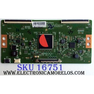T-CON / HISENSE 5435A / 6871L-5435A / 6870C-0743A / PANEL´S HD600N3U22\S1\GM\ROH / HD600N3U23 / 220696 / MODELOS 60DU6070 / 60H6E / LC-60P6070