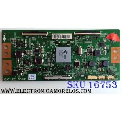 T-CON / HISENSE 212175 / RSAG7.820.7457.ROH / HD550M5U51-TA\ / PANEL HD550M5U51-TA\S0\/GM\ROH / 217120 / MODELO 55H8C