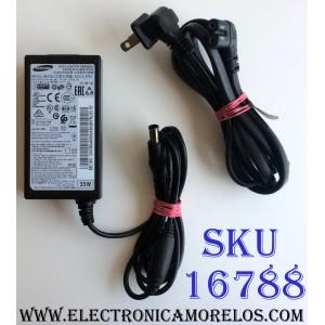 ADAPTADOR DE A/C SAMSUNG 14.0V -- 2.5A / SAMSUNG A3514_FPN / BN44-00832A / BN4400832A / MODELOS LS22D390QS/EN / UN19F4000AFXZA / UN22F5000AFXZA / LF-NXN2N/XF / LS24E510CS/XF / LF00FNXPFBZXXT / GX-SP680EL/OSP / LC24F390FHCXXF / LC27F390FHEXXM / LC32F391