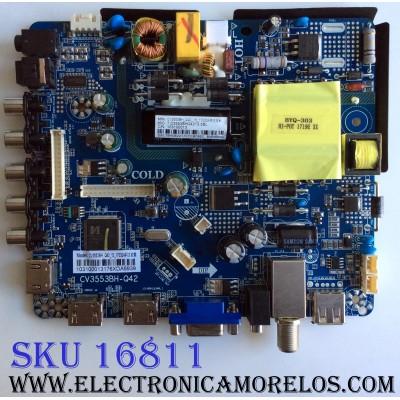 MAIN / FUENTE (COMBO) / ELEMENT 76H08221 / CV3553BH-Q42 / E17120-8-SY / CV3553BH_Q42_13_170324 / CV3553BH-Q42-13-B100-100 / E17120-8-SY-V400HJ6-PE1-C3 / 103100013 / PANEL´S T400-V35-DLED / V400HJ6-PE1-C3 / MODELO ELEFW4017BF