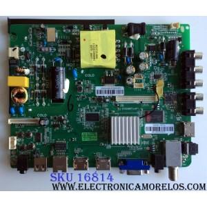 MAIN / FUENTE (COMBO) / ELEMENT 3416564 / ST6308ETU-AP1 / 110105001984 / 1602-16070033 / 083020 / 40E7930CB2CD / 34016564SS68000820 / PANEL LC430DUY (SH)(A1) / MODELO ELST4316S LE-43GY16-A3