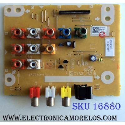 TARJETA DE A/V / EMERSON A1DA7MJC / A1DA7-MJC / BA04A0F01041 / PANEL UJ26MXE / MODELO LD260EM2 DS2