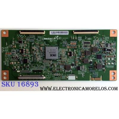 T-CON / HISENSE EATDJ6E13 / E222034 / 17082201 / PANEL HD500S1U01\S1\GM\CKD\ROH / MODELOS 50H6E / E4STA5017 C8C4M