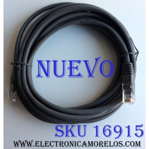 CABLE PARA CONEXIÓN A INTERNET RJ45  / TIPO LAN CAT14FT / LONGITUD DEL CABLE: APROXIMADAMENTE: 14 PIES / (4 METROS) / DIRETV ENHANCED CAT-5 UTP 350MHZ / CM(UL) C(UL) E337566 26AWG 4PR CAT5e PATCH RoHs cat14ft-t AMJ