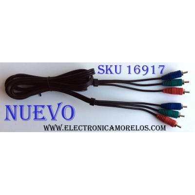 CABLE RCA / COMPONENT6FT / AWM 2562 E337566-YD VW-1 80°C 300V INTERCONNECT PRODUCTS LTD
