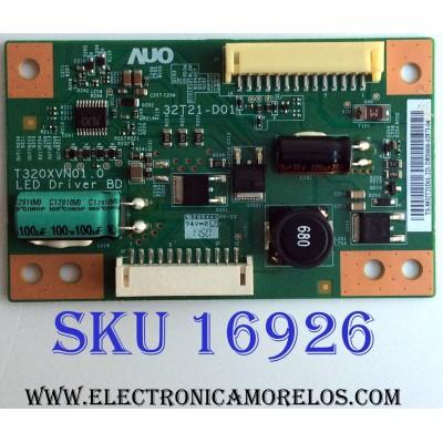 LED DRIVER / LG 55.32T21.D01 / 32T21-D01 / 5532T21D01 / PANEL T320XVN01.1 / MODELO 32LS3500-UD.AWMDLJM