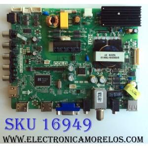 MAIN / FUENTE (COMBO) / SANYO B15072279 / TP.MS3393T.PB79 / 3MS3393X-2 / 02-SLS39A-C003014 / PANEL LVF420LGDX E2 V1 / MODELO FW42D25T