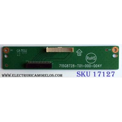 T-CON / INTERFACE / VIZIO 715G8728-T01-000-004Y / E342828 / PANEL TPT315B5-AN10.S REV:SH02A / MODELO D32HN-E1 LTTEVMAS