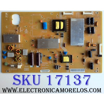 FUENTE DE PODER / TOSHIBA 75031307 / N133R001L / PK101V3120I / 9MC133R00FA3V2LF / 06-PK101V3120I-VGXSL / PANEL LTA460HW04 / MODELOS 40L5200U1 / 40L5200U2 / 46LS200U1