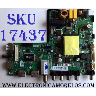 MAIN / FUENTE (COMBO) N13070946 / TP.MS3393.P87 / PLFC0206509B13275 / PLFC0206509 / B13275 / E246366 / TP.MS3393.P87B-40W1 / SM315CK505 D0210 40W1 / CKJH130760 / PANEL SM315CK505 / MODELO