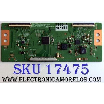 T-CON LG 6871L-2823H / 6870C-0401B / 2823H / SUSTITUTAS 6871L-2753M / 6871L-2852G / 6871L-2753R / 6871L-2856C / 6871L-2753S / 6871L-2852D / 6871L-2823E / 6871L-2856B / PANEL LC420EUE (SE)(F1) / MODELOS 42LM6200-UE / 42LM5800-UC / 42LM6200-UE / 42LW5300-UC