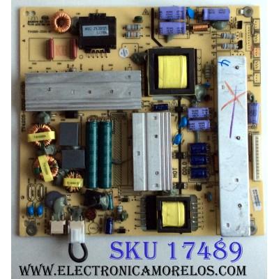 FUENTE PIONEER 510-120912089 / E59670 / M04/G32520/02 / TV4205-ZC02-01 / PANEL HV460WU2-200 / MODELO PLE-4602FHD / NOTA IMPORTANTE:ESTA TARJETA NO TIENE DOS PLASTICOS DEL LOS CONECTORES (CON203 Y CON205) NO ESTA DAÑADA ,SOLAMENTE NO TIENEN LOS PLASTICOS.