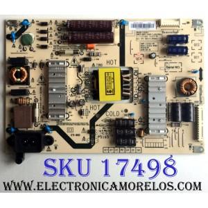 FUENTE DE PODER / LG 1609317M / 5835-L3L02J-W100 / 1609317M-P00272 / 168P-L3L02J-W1 / VER:00.00 / PANEL RDL400FY (QD0-406) REV.00 / MODELOS 40LH5000-UA.CUSJLH / 40LH5000