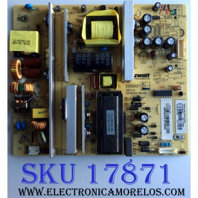 FUENTE DE PODER / RCA AE0050325 / E226038 / ER991PB / ER991P / KB-5150 / ER991P-B-168300-P08 / PANEL LSC55FJ06-12V / MODELOS LED55G65RQ / LED55G65RQ 5516-LE55G65-A105861