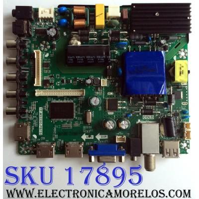 MAIN / FUENTE (COMBO) / ELEMENT E17054-3-SY / TP.MS3393.PB751 / K17031036 / V400HJ6-PE1 / PANEL V400HJ6-PE1 REV.C4 / MODELO ELFW4017