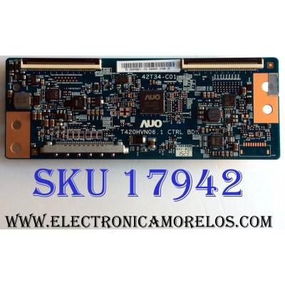 "T-CON / LYNX 55.39T06.C11 / T420HVN06.1 / 5539T06C11 / PANEL V390HJ1-LE1 REV.C1 / MODELO 39"""