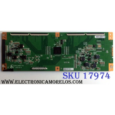 T-CON / HITACHI 5060AU65000130 / T550_QVD02-V1.0 / PANEL`S T650QVR01.5 / T650QVN02.0 / MODELO LE65K6R9