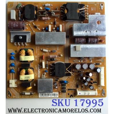 FUENTE DE PODER / SONY 1-895-316-11 / DPS-162LP / 2950306004 / DPS-162LP A / M12169202950 / 880100T00-065-G / PANEL V500HK1-LS5 / MODELO KDL-50EX645
