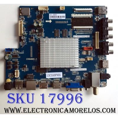 MAIN / FUENTE (COMBO) / WESTINGHOUSE 21005018 / CV6488H-A / LSC550FN05 / E252098 / PANEL MD5512YTLU / MODELO WD55UB4530