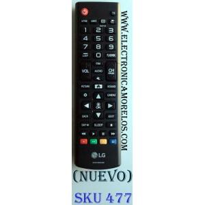 CONTROL PARA TV LG / MODELOS 24LH483 / 24LJ4840-WU / 24LH4830-PU / 28LJ400B-PU / 28LJ400 / 28MT42DF / 32LJ500B / 32LJ500-UB / 43LJ500M / 43LJ5000 / 49LJ5100-UC / 49LJ510M-UD
