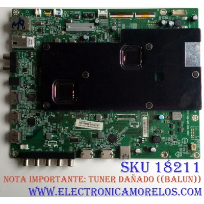 MAIN / ((NOTA TARJETA MAIN NO TIENE TUNER)) / VIZIO GXFCB0QK0240 / 715G7689-M01-000-005K / PANEL TPT550U2-EQYSHM.G REV: S1H / MOD. D55U-D1 LTC7UCBS / D55U-D1 LTC7UCAR / D55U-D1 LTC7UCAS  / D55U-D1 LTC7UCCS / D55U-D1 LTM7UCAR / D55U-D1 LTM7UCBS