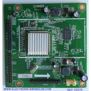 DRIVER T-CON / APEX 1105H0613 / CV6M20 V1.1 / PANEL LTA400HF16 / MODELO LE40H88