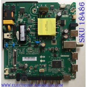 MAIN / FUENTE (COMBO) / HISENSE A18073881 / M182037 / TP.SR.PB701 / M180708 / LSC400HN02 / HU40N2176MF.N.80 / PANEL JHD400N2F31-TX / MODELO 40EU3000