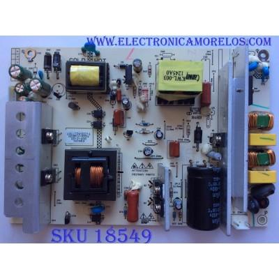 """FUENTE DE PODER / KW-LCP418001A / E150742 / PANEL LC370WXN-SBD1 / MODELO 37"""""""