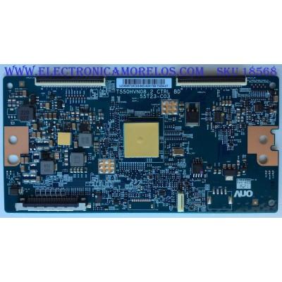 T-CON / SONY 55.55T23.C03 / 5555T23C03 / T550HVN08.2 / 55T23-C03 / PANEL T550HVF06.0 / MODELO KDL-55W800C