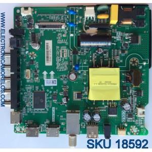 MAIN / FUENTE ( COMBO ) / HISENSE F18070818 / TP.SR.PB701 / PANEL LSC400HN02 / MODELO 40EU3000