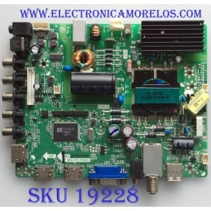 MAIN / FUENTE / (COMBO) ELEMENT / DX-15009 / TP.MS3393.PB851 / 3393PB851 / PANEL V400HJ6-PE1 / MODELO ELEFW408